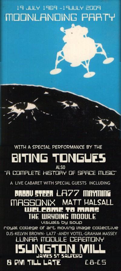 moonlanding party flyer